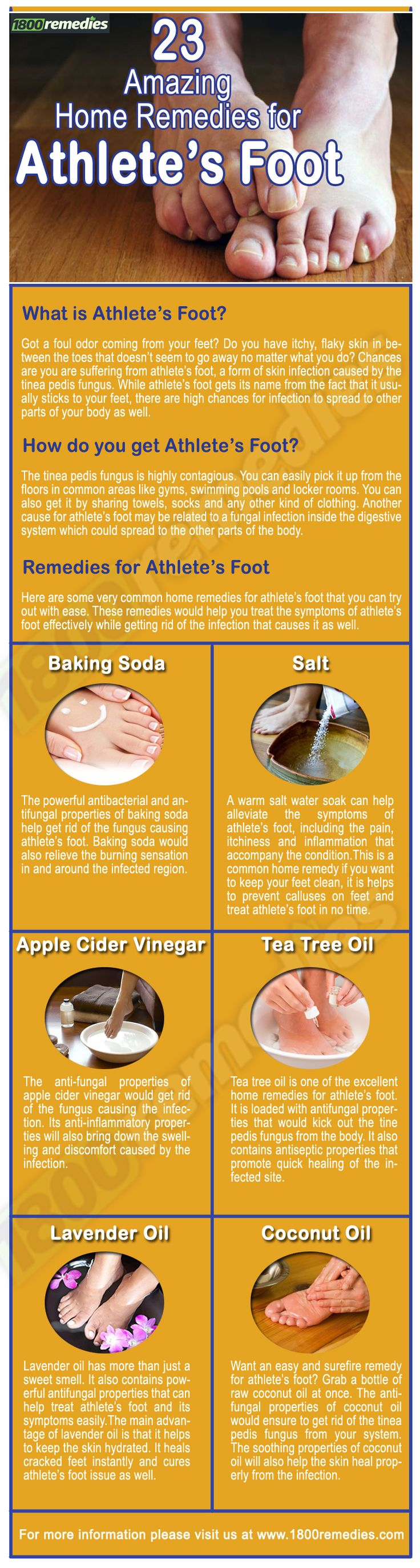 Natural athletes foot remedy