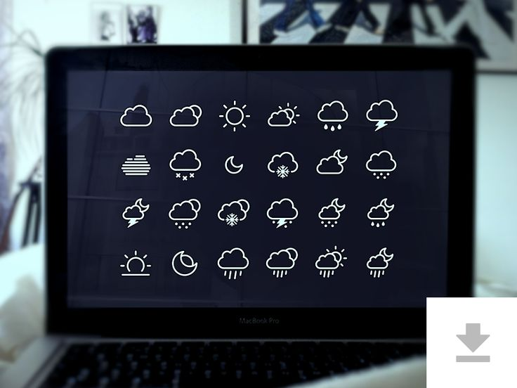 24 Weather Icons - Freebie by Robin Kylander