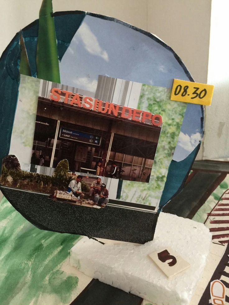 Scene 5 -arriving at depok baru station