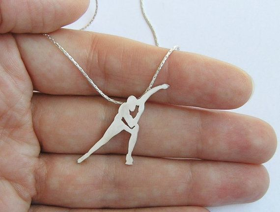 Speed Skating Necklace Pendant  Ice Skater by DaliaShamirJewelry, $75.00
