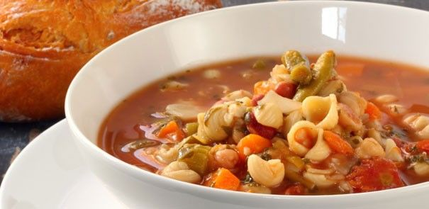 Hearty Italian Tomato Soup - warm and cozy. http://www.becel.ca/en/becel/HeartHealthyRecipes/Soups/Hearty-Italian-Tomato-Soup.aspx