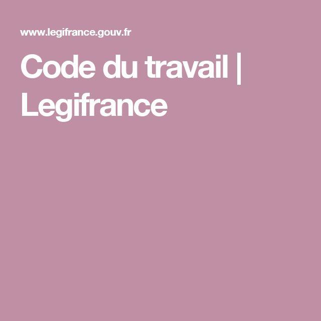 Code du travail | Legifrance