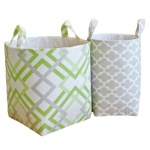All fabric hampers - big or small - either is great for baby's dirty clothes or to store toys
