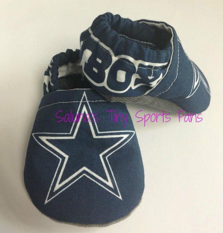Dallas Cowboy baby booties