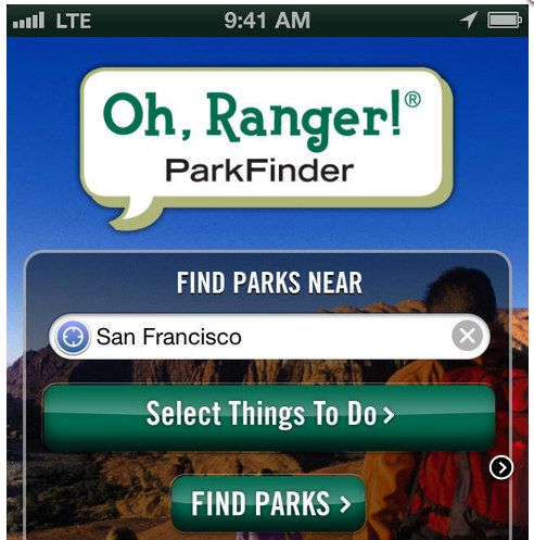 Oh, Ranger! ParkFinder App – To find the perfect path!