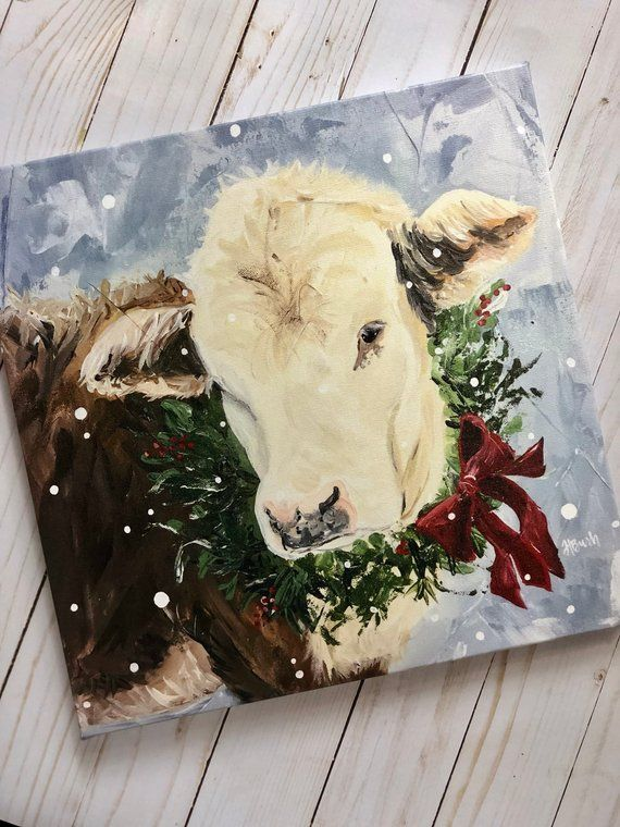 5D DIY Full Drill Diamond Painting Cow In The Bush Embroidery Kits Decor Mural