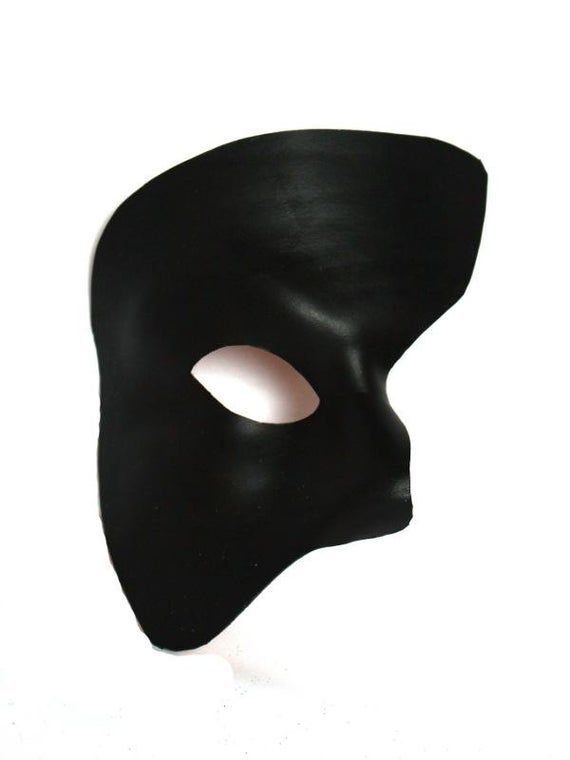 Italy! Venetian Mask Black Leather Bandit Made In Venice