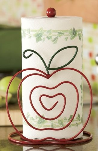 Apple Paper Towel Holder For My Apple Themed Kitchen! So Cute!