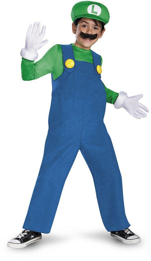 Halloween costumes for boys - Super Mario Bros. Luigi Deluxe Dress-Up Set - Kids   mario and luigi costumes   mario and luigi costumes diy   mario and luigi costumes boys   mario and luigi costumes for teens   luigi costume   luigi costume for boys  