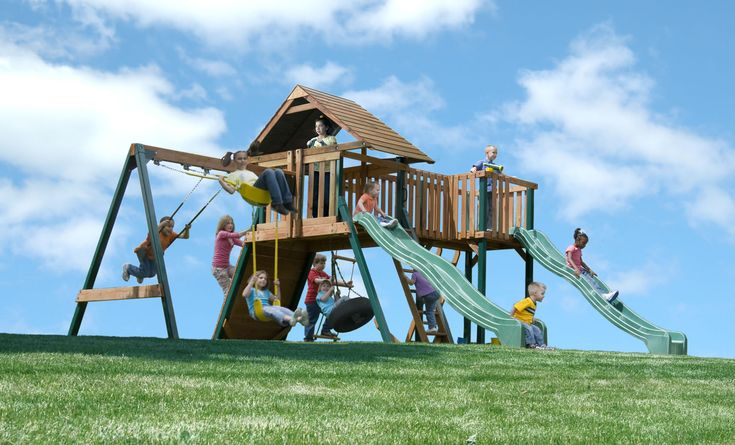 17 Best Images About Cool Swing Sets For Kids On Pinterest