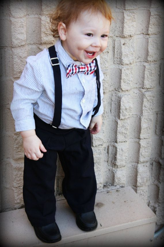 Toddler Suit 24m-4t boy 2 piece suit suspender and by kbpdesigns