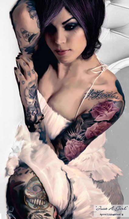 手机壳定制aasics Kat Von D Inked girl Ink Tatooed girl Makeup artist Katherine von Drachenberg