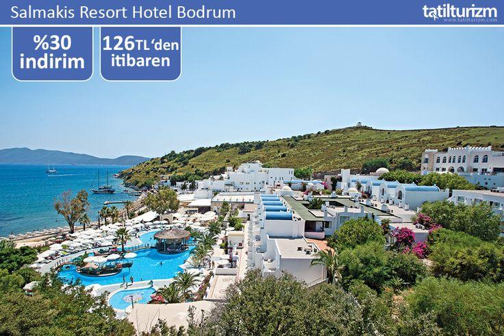 Bodrum merkeze 1,5 km mesafede yer alan ve özel plajı bulunan Salmakis Resort Hotel Bodrum'da unutulmaz bir tatil 126 TL'den başlayan fiyatlarla.