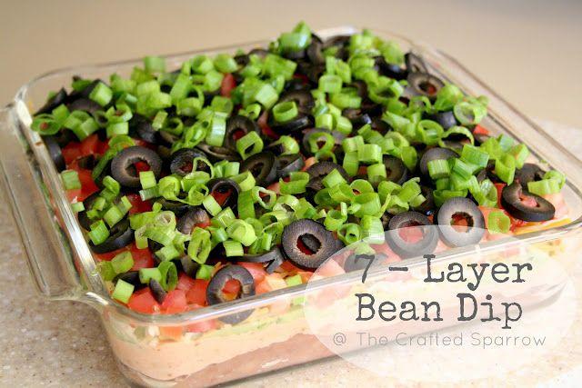 7-layer bean dip #recipe (HoH99)