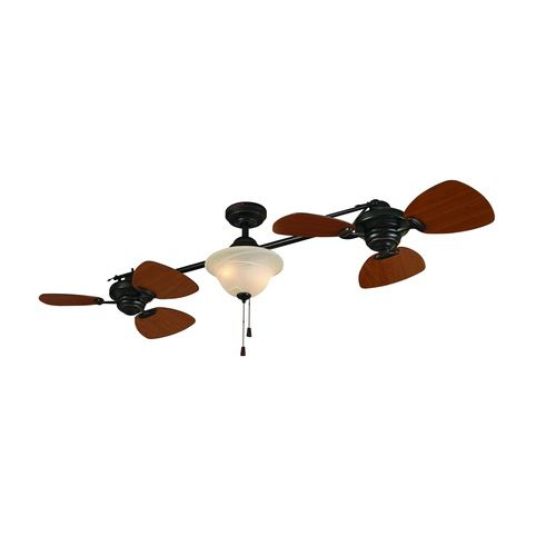 """Harbor Breeze 74"""" Twin Breeze Aged Bronze Ceiling Fan (Living Room ? Swap Glass and Remove Chains) $179.00"""
