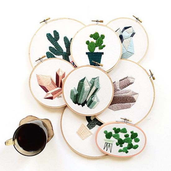 Fresh & Fun embroideries by Sarah Benning, posted on the blog today! http://www.artisticmoods.com/sarah-benning/