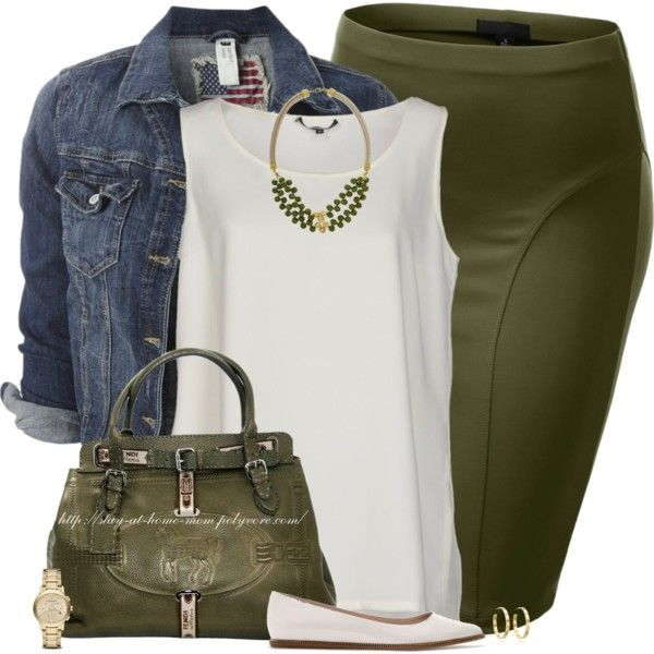 """""""Denim, Ivory and Olive"""" by stay-at-home-mom on Polyvore"""