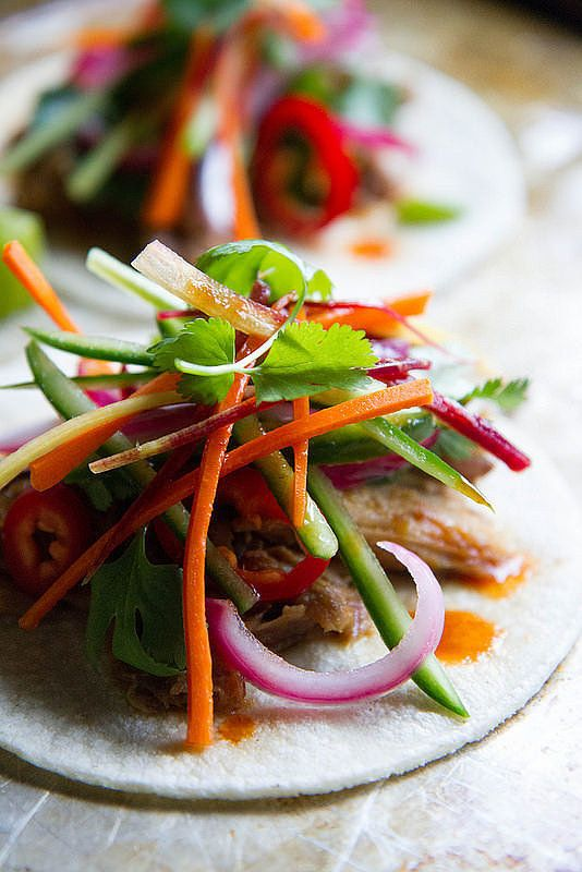 Get the recipe: banh mi tacos Image Source: Heather Christo