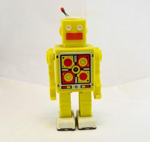 RARE Antique Vintage Soviet Toy Robot Mechanical Clockwork Wind Up Original USSR