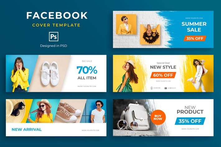 Fashion Promo Facebook Cover Template By Uicreativenet On In 2020