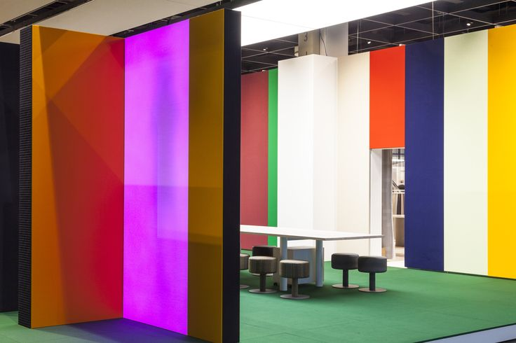 Kvadrat Soft Cells presents a vibrant exhibition stand at Orgatec this year, inviting visitors to experience great acoustic and light quality.   Photos by Patricia Prinejad