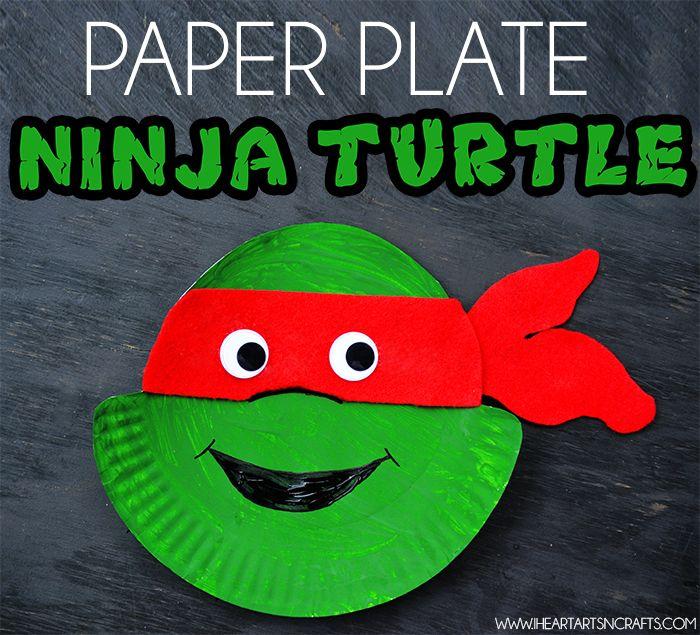 Ninja Turtle Paper Plate Craft  sc 1 st  Pinterest & 563 best CraftActivity PrimaryPreschool storytime images on ...