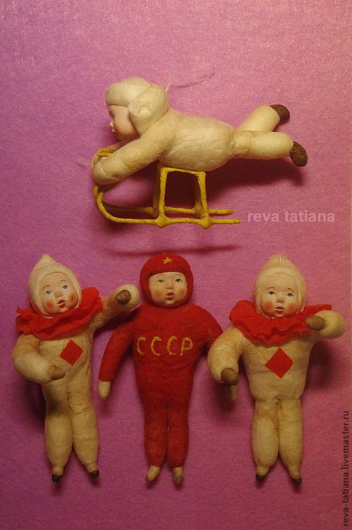 Купить Космонавт. Ватная елочная игрушка. - елочные игрушки, дети, космонавт, Новый Год