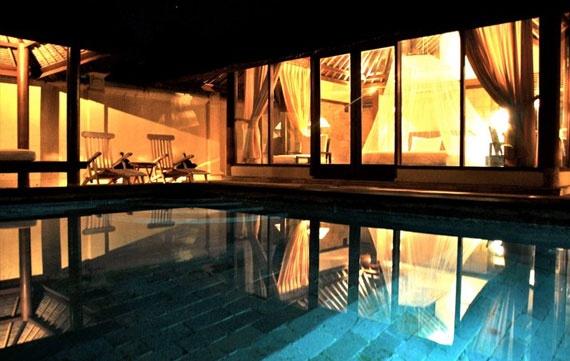 The private pool villa of Kura-kura resort at Karimun Java, Indonesia.
