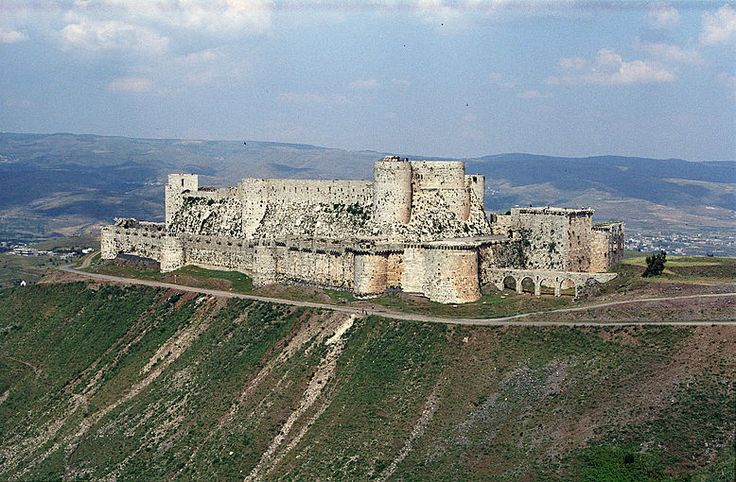 Like many castles built by crusader knights, the inner fortress of Krak des Chevaliers, Syria, was mainly constructed in this period, with the outer walls being later.