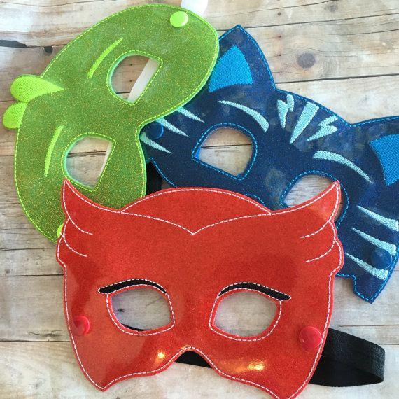 Masques de coucher héros inspiré par PJ masques. par GagiePoos