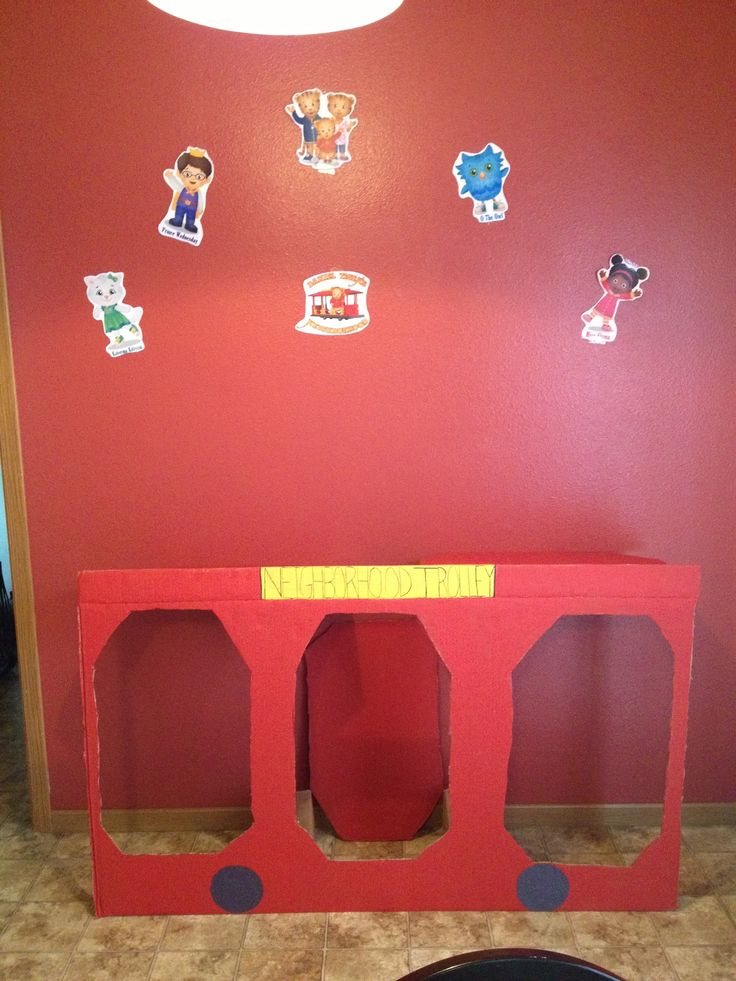 For photos. So many good ideas for activity stations based on the neighbors in Daniel tiger
