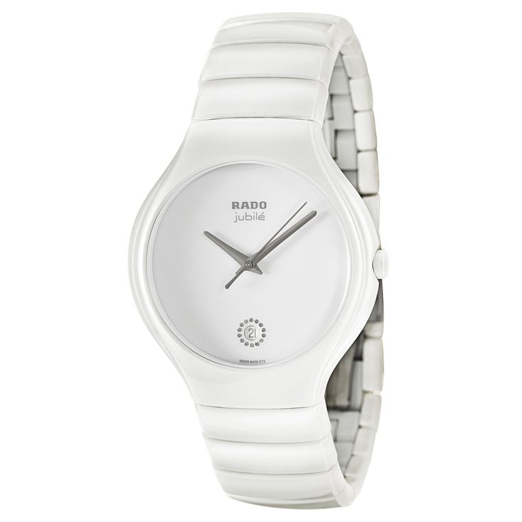 Rado Women's 'True Jubile' White Ceramic Swiss Quartz Watch | Overstock™ Shopping - Big Discounts on Rado Rado Women's Watches