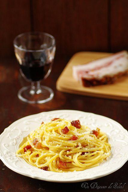 Spaghetti (pâtes) à la carbonara : la recette authentique