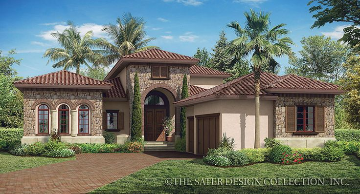 Monterchi house plan luxury houses and brick arch for Luxury brick house plans