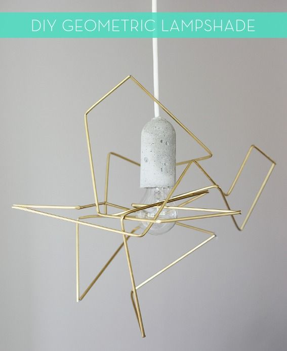 How To: Make a Modern DIY Geometric Lampshade: Pendants Lamps, Diy Geometric, Lights Fixtures, Lamps Shades, Weekday Carnivals, Diy Lights, Pendants Lights, Diy Projects, Geometric Lampshades