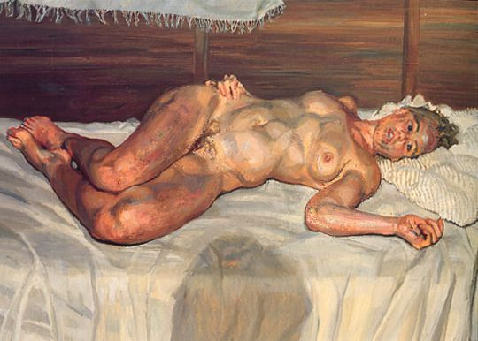Expressionism Flora with Blue Toe Nails, 2000, Lucian Freud