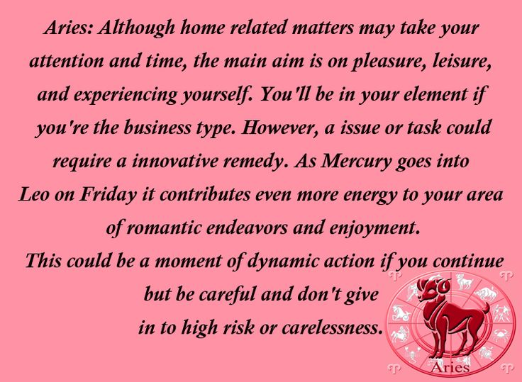 July 28, 2014 - August 3, 2014 #Aries Horoscope