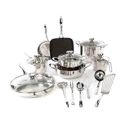 Shop Wolfgang Puck Bistro Elite 19-piece Stainless Steel Cookware Set 8408255, read customer reviews and more at HSN.com.