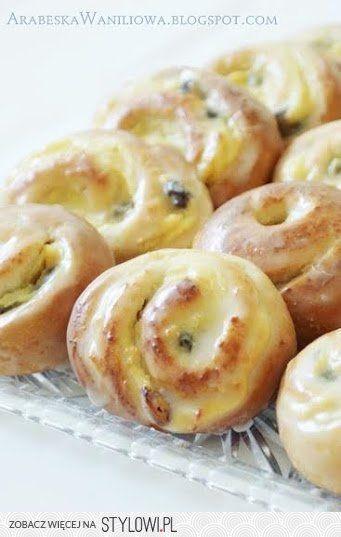 Arabeska: Drożdżowe ślimaczki z serem (i budyniem)