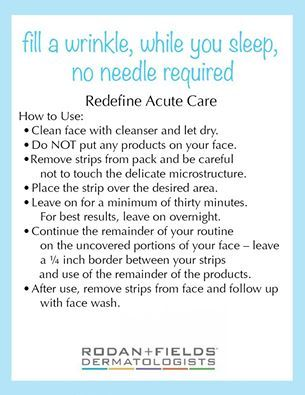 Redefine Acute Care instructions