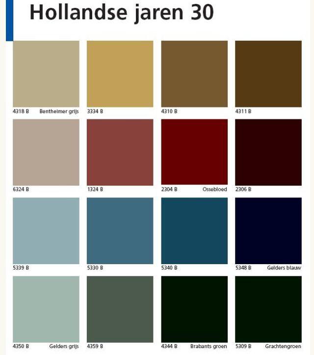 Kleuren jaren 30