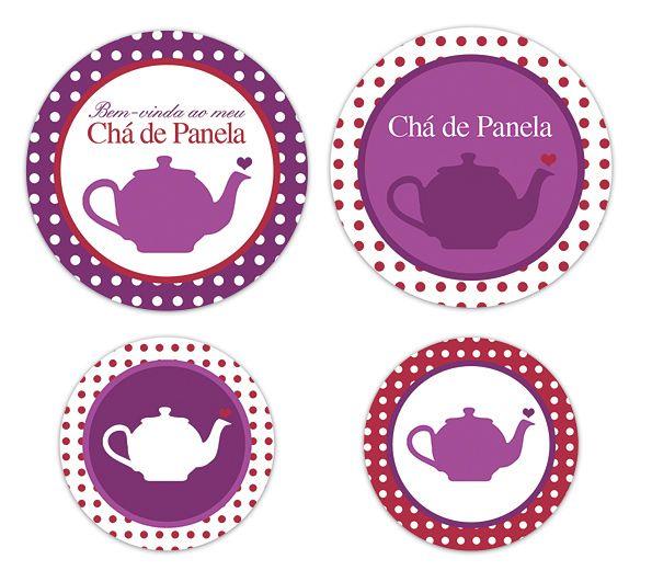 Para imprimir: Tags de chá de panela