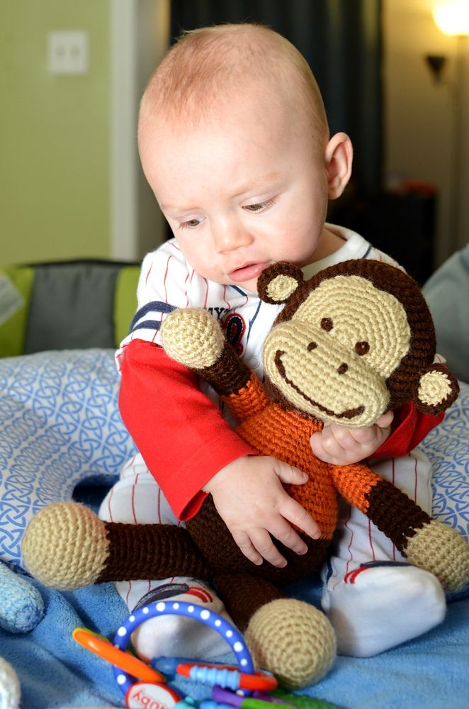 Jake The Playful Monkey By Ebeliz Rodriguez - Free Crochet Pattern - (ravelry) thanks so for share xox ☆ ★  https://www.pinterest.com/peacefuldoves/