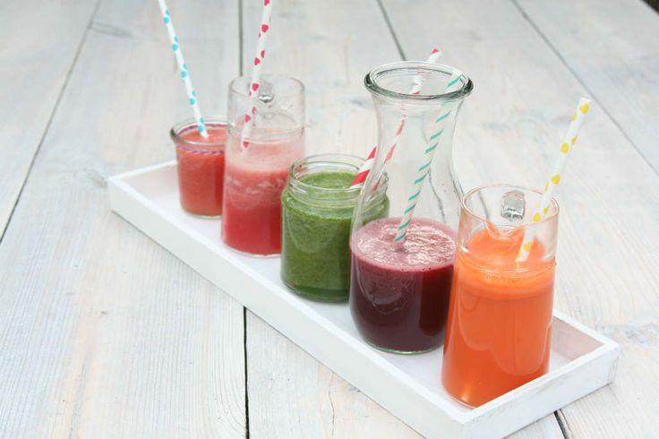 Een overzicht van 5 gezonde sap recepten.