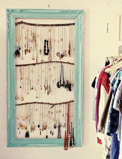 jewellery- framed. What a fabulous idea! @Laura Jayson Jayson Leslie