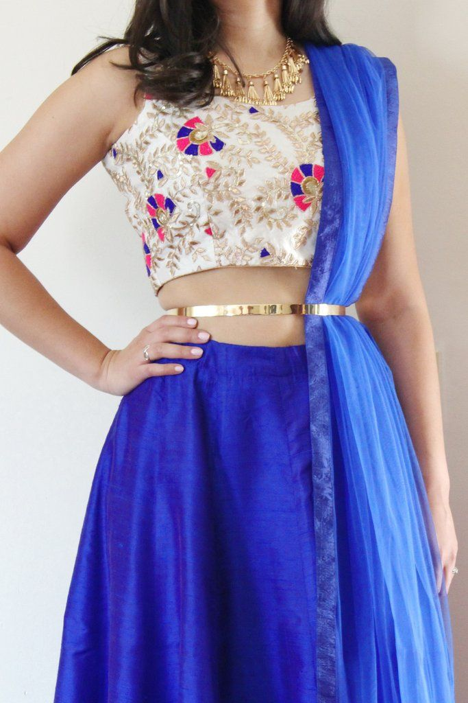 Orchid Skirt - Blue