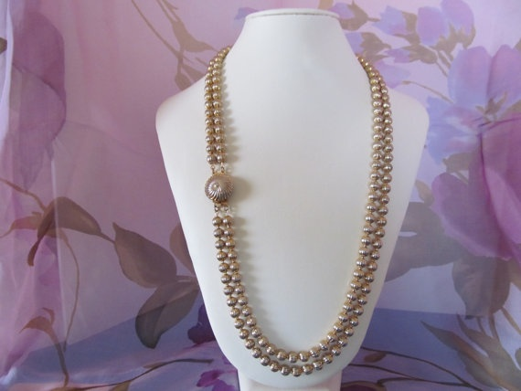 Glorious 1950s/1960s Vintage Gold Double by DragonHeadJewelsToo, $15.00