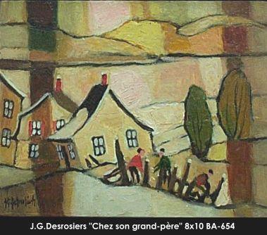 Original oill painting on canevas by Jean-Guy Desrosiers #jeanguydesrosiers #artist #canadianartist #quebecartist #art #fineart #figurativeart #originalpainting #oilpainting #villagescene #winterscene #balcondart #multiart
