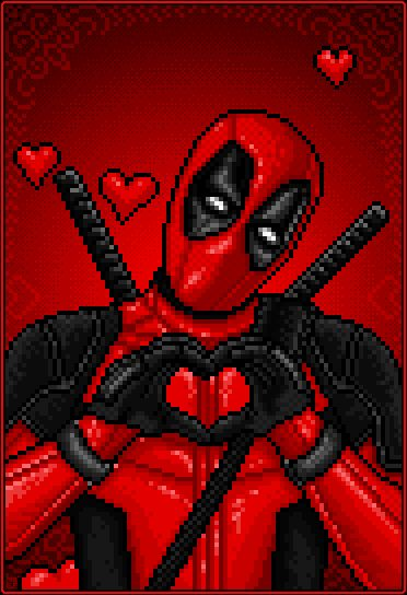 (gif) DEADPOOL - Happy Valentines Day! - Pixel art GIF     Deadpool Fan Art by GEEKsomniac on DeviantArt