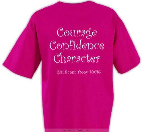 girl scout t shirt ideas | Custom T-shirt Design Troop 10016 T
